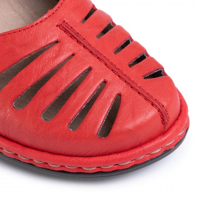 Szandál RIEKER - 47786-33 Rot - Magasított sarkú cipők - Papucsok és szandálok - Női