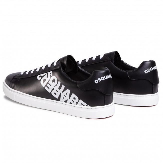 Új Érkezési Divat Férfi Cipők Sportcipő DSQUARED2 - Lace-Up Low Top Sneakers SNM0005 01501675 M063 Nero/Bianco  - Sneakers - Félcipő - Férfi BKD2Gee7