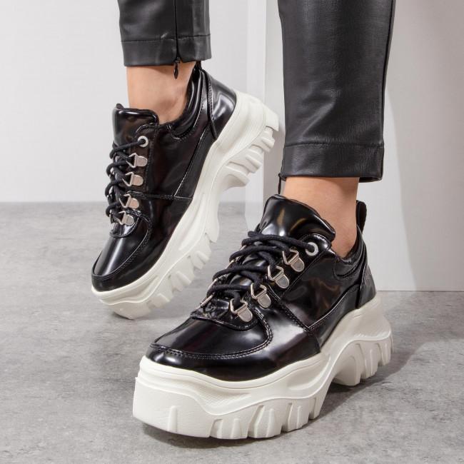 Sportcipő PEPE JEANS - Mayfair Soir PLS10390 Black 999 - Sneakers - Félcipő - Női