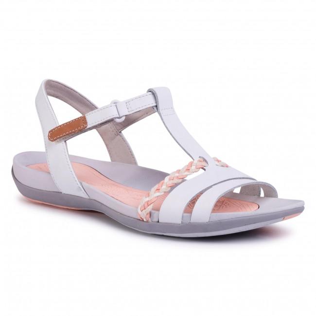 Szandál CLARKS - Tealite Grace 261423574 White Leather