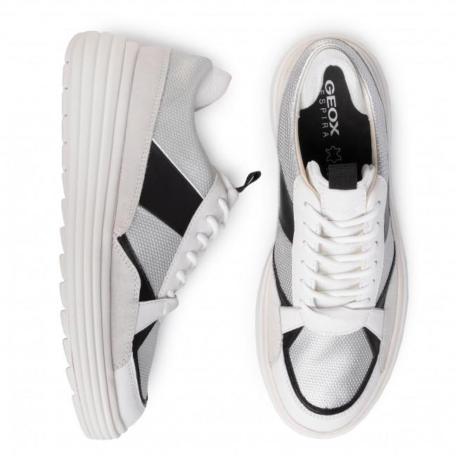 Sportcipő GEOX - D Phaolae B D02FDB 00422 C0628 Silver/Off Wht - Sneakers - Félcipő - Női