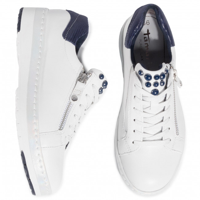 Sportcipő TAMARIS - 1-23711-24  White/Navy 149 - Sneakers - Félcipő - Női