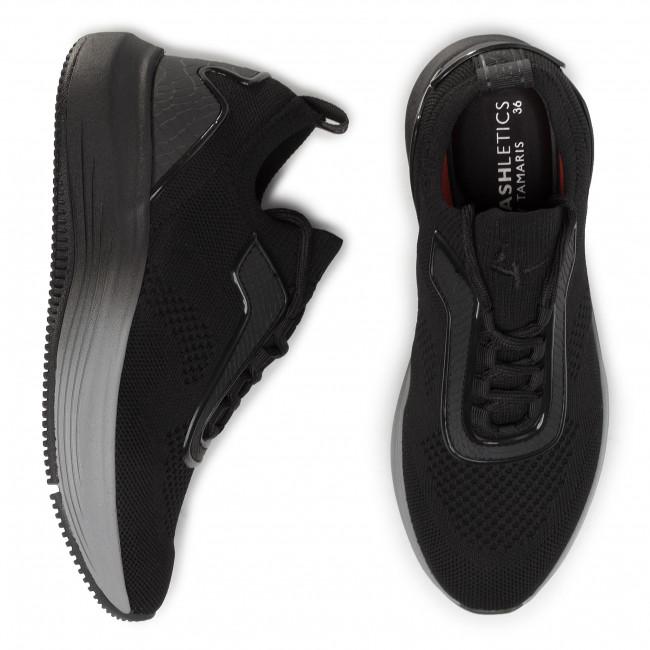 Sportcipő TAMARIS - 1-23732-24 Black 001 - Sneakers - Félcipő - Női