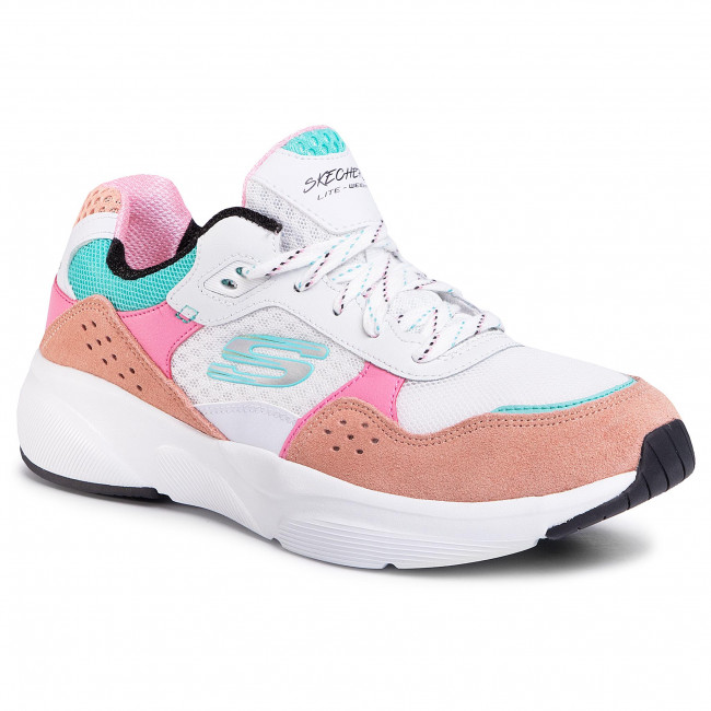 Sportcipő SKECHERS - Charted 13019/WPKB White/Pink/Blue