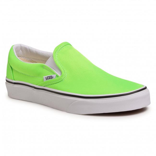 Teniszcipő VANS - Classic Slip-On VN0A4U38WT51 (Neon)Green Gecko/Tr Wht