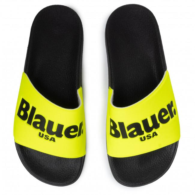 Papucs BLAUER - S0BAY02/FLU Yellow - Papucsok - Papucsok és szandálok - Férfi