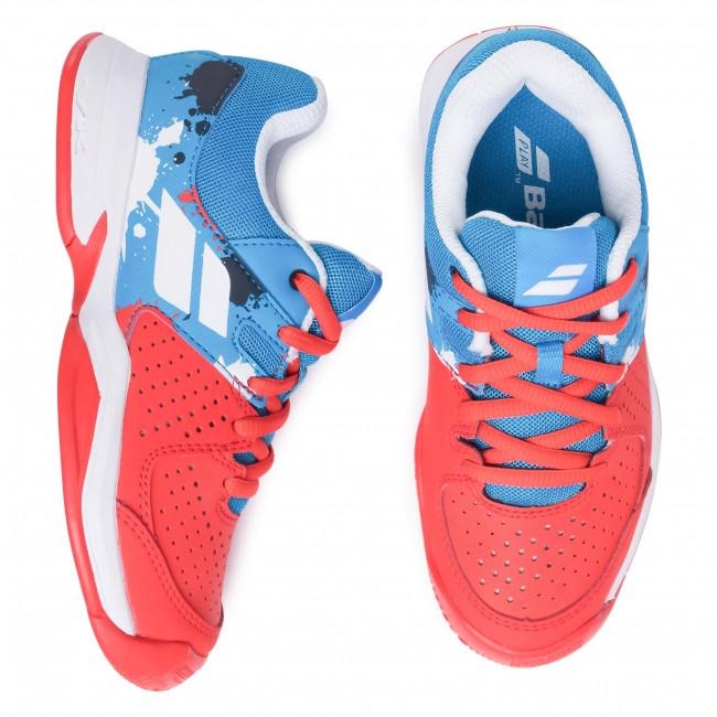 Cipő BABOLAT - Pulsion All Court Jr 32S20482 Tomato Red/Blue Aster - Fűzős - Félcipő - Kisfiú - Gyermek