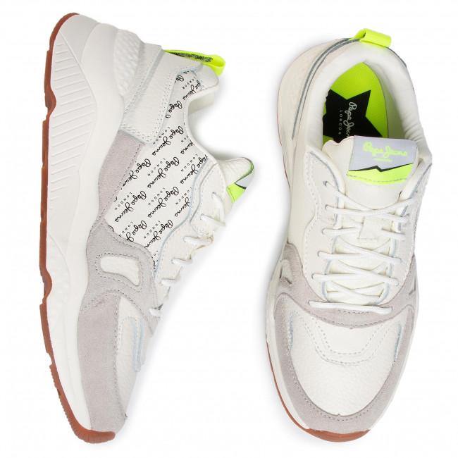 Outlet Üzlet Női Cipők Sportcipő PEPE JEANS - Harlow Mania Print PLS30974  White 800 - Sneakers - Félcipő - Női q3FKw4JM