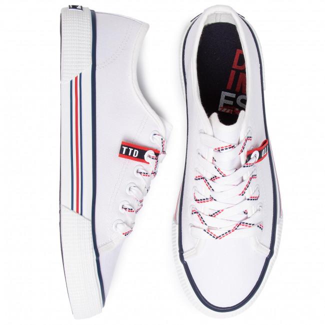 Teniszcipő TOM TAILOR - 8095305 White - Tornacipők - Félcipő - Női