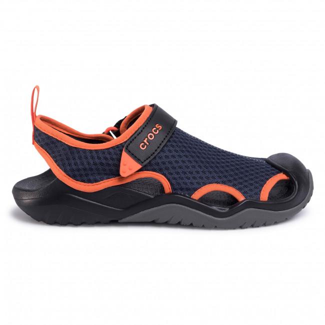 Kedvezmény Férfi Cipők Szandál CROCS - Swifwater Mesh Deck Sandal M 205289 Navy/Tangerine - Szandálok - Papucsok és szandálok - Férfi iokocaMZ