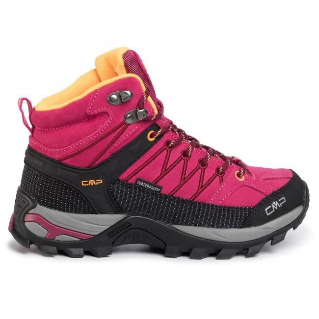 Bakancs CMP - Rigel Mid Wmn Trekking Shoes Wp 3Q12946 Bouganville/Goji 06HE - Bakancsok - Csizmák és egyebek - Női