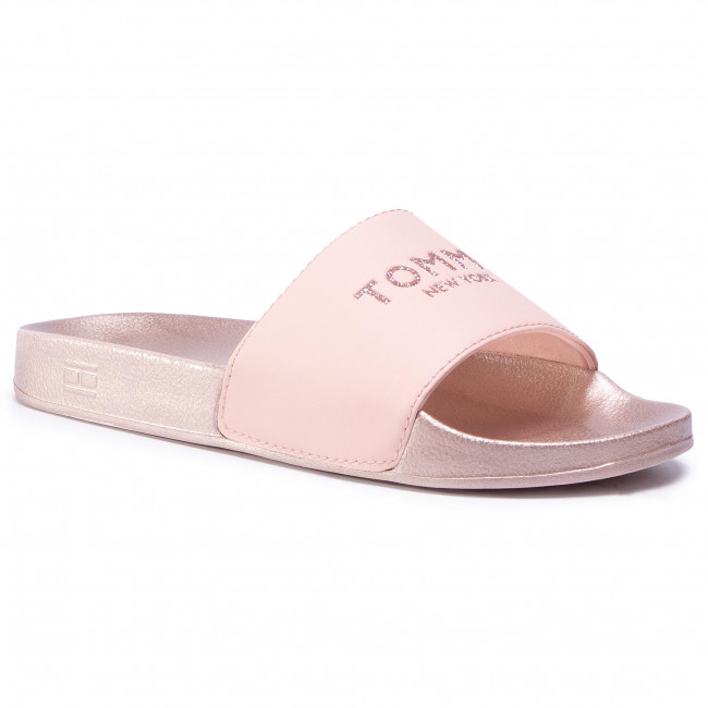 Papucs TOMMY HILFIGER - Th Glitter Pool Slide FW0FW04982 Cameo TM0