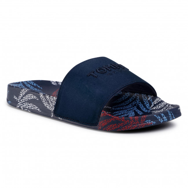 Papucs TOMMY HILFIGER - Tropical Fade Pool Slide FW0FW04990 Sport Navy DB9