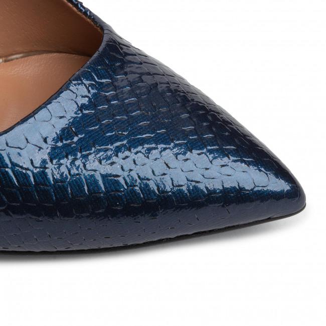 Tűsarkú R.POLAŃSKI - 1040 Granat Crocco - Tűsarkú cipő - Félcipő - Női