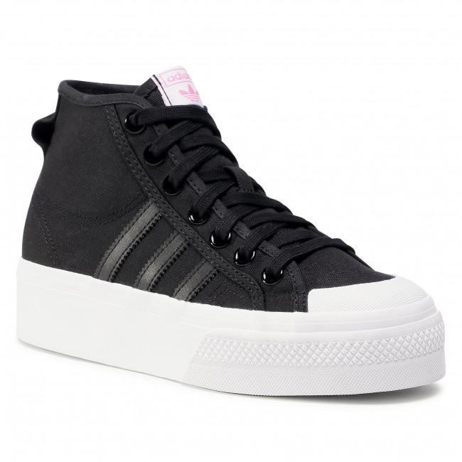 Cipő adidas - Nizza Platfrom Mid W FY7579 Cblack/Ftwwht/Scrpnk