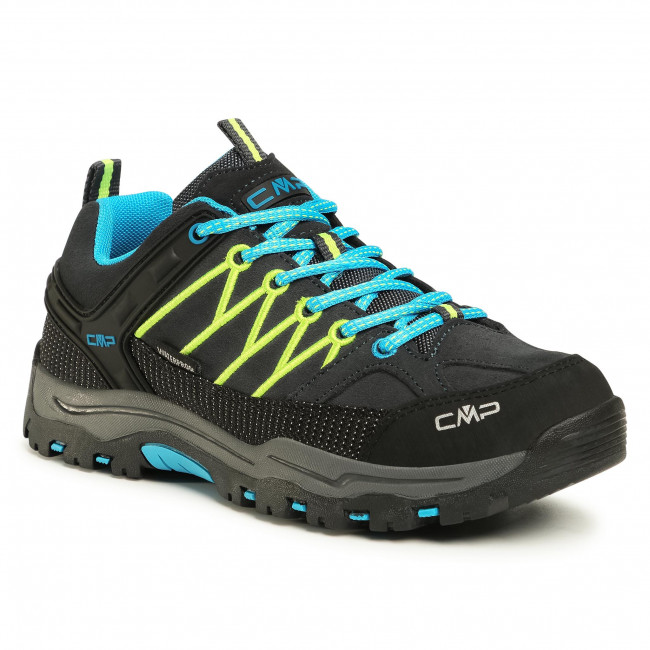 Túracipő CMP - Rigel Low Trekking Shoes Wp 3Q13244J Antracite/Yellow Fluo 34UF