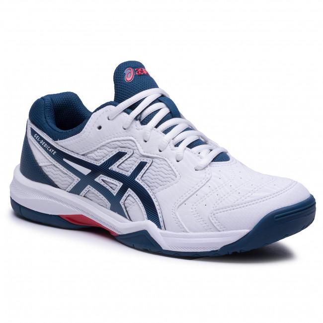 Cipő ASICS - Gel-Dedicate 6 1041A074 White/Mako Blue 104