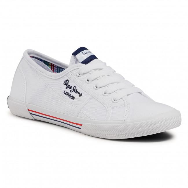 Teniszcipő PEPE JEANS - Aberlady Ecobass PLS31193 White 800