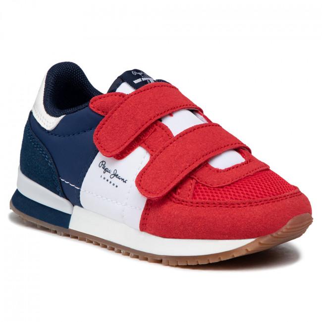 Sportcipő PEPE JEANS - Sydney Basic Boy PBS30489 Red 255