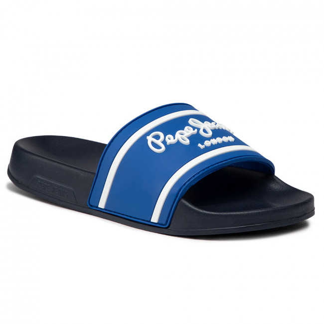 Papucs PEPE JEANS - Slider Logo Boys PBS70037 Lagoon 539