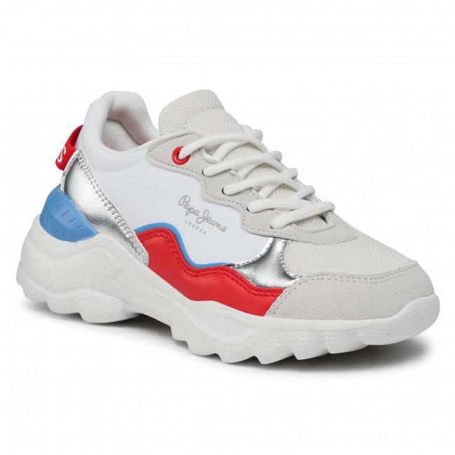 Sportcipő PEPE JEANS - Eccles Junior PGS30490  White 800