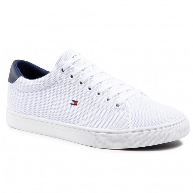 Sportcipő TOMMY HILFIGER - Essential Knit Vulc FM0FM03474 White/Yale Navy 0K5