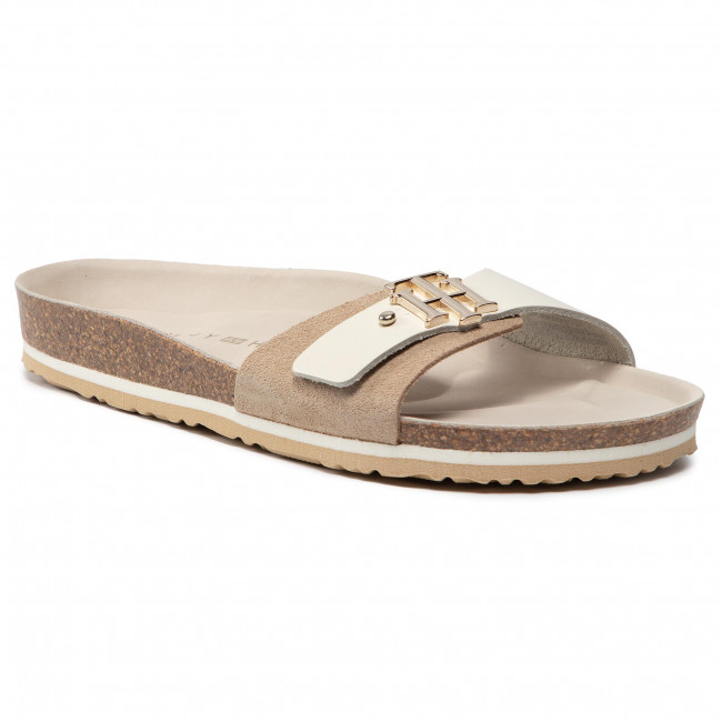 Papucs TOMMY HILFIGER - Th Molded Footbed Sandal FW0FW05622 Sugarcane AA8