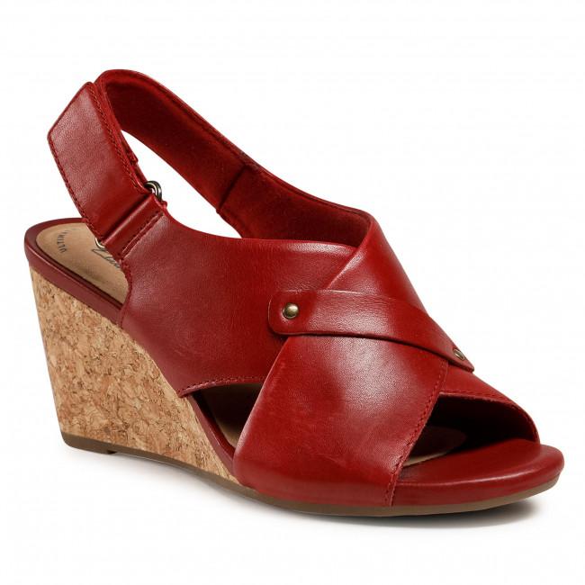 Szandál CLARKS - Margee Eve 261581354 Red Leather