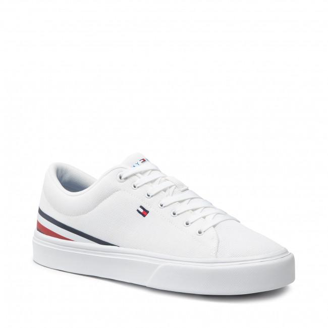 Teniszcipő TOMMY HILFIGER - Lightweight Stripes Sneaker FM0FM03612 White YBR