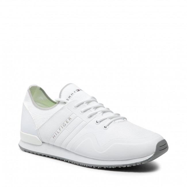Sportcipő TOMMY HILFIGER - Iconic Sock Knit Runner FM0FM03615 White YBR