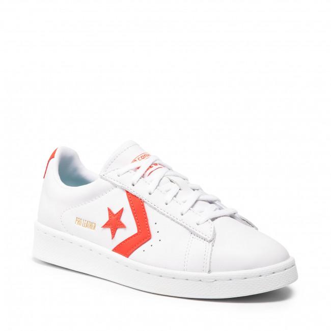 Sportcipő CONVERSE - Pro Leather Ox 170756C White/Bright Poppy/White