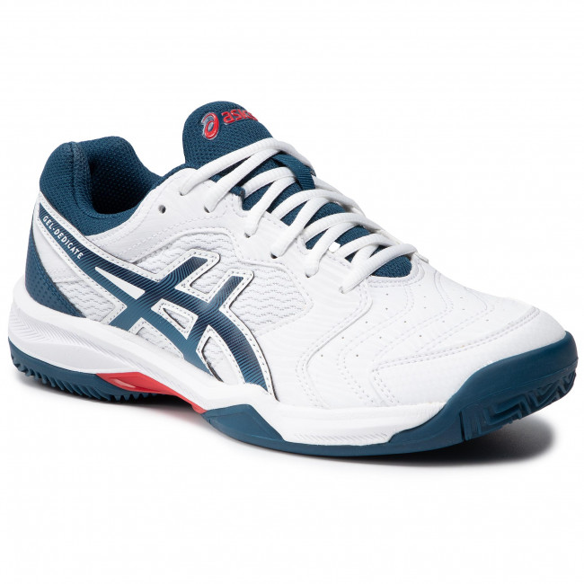 Cipő ASICS - Gel-Dedicate 6 Clay 1041A080  White/Mako Blue 104