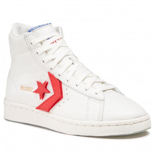 Sportcipő CONVERSE - Pro Leather Hi 170240C Vintage White/University Red