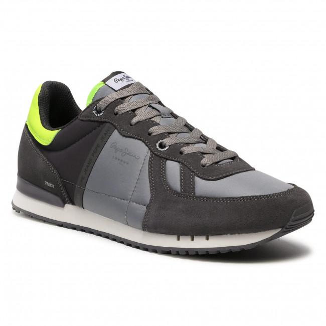Sportcipő PEPE JEANS - Tinker Zero Refletive PMS30590  Dark Grey 975