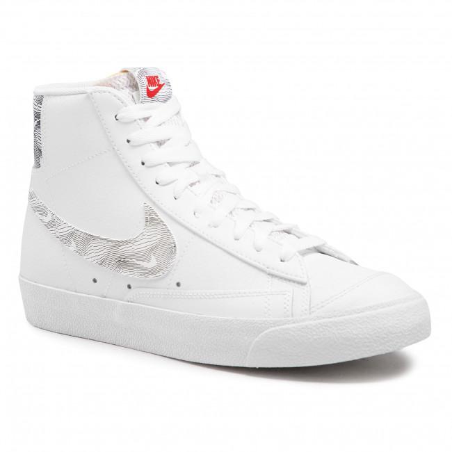 Cipő NIKE - Blazer Mid '77 DH3985 100 White/University Red/Black