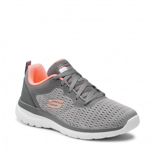 Cipő SKECHERS - Quick Path 12607/GYCL Gray/Coral