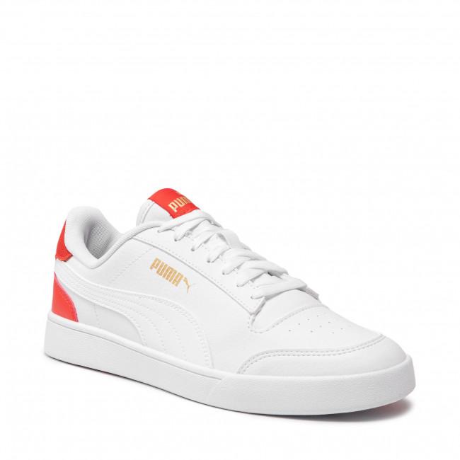 Sportcipő PUMA - Shuffle 309668 06 Puma White/Poppy Red