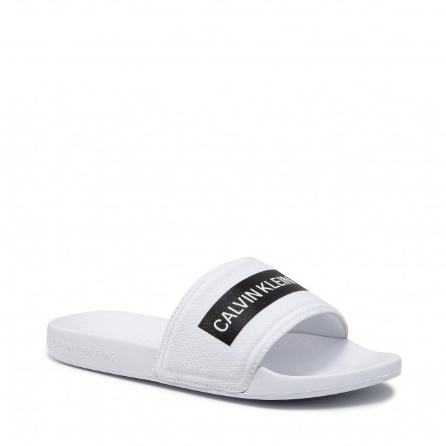 Papucs CALVIN KLEIN JEANS - Slide Tape Inst Co YM0YM00257 Bright White YAF