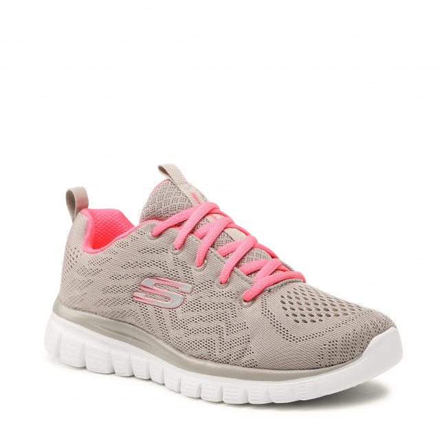 Cipő SKECHERS - Get Connected 12615/GYCL Gray/Coral