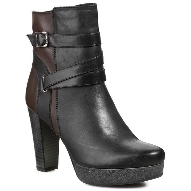Magasított cipő ANN MEX - 5506 01S+95T Fekete