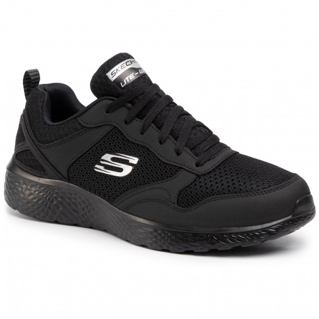 Cipő SKECHERS - Brisbane 232057/BBK Black - Fitnesz - Sport - Férfi