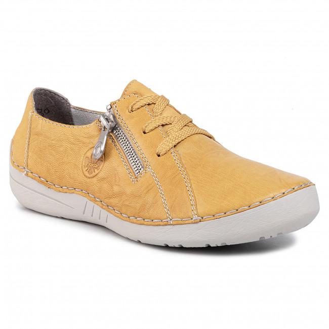 Rieker női bőr félcipő yellow (sárga) 52511 68   Rieker