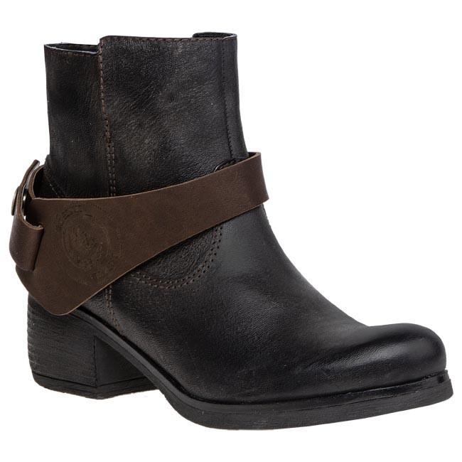 Magasított cipő BADURA - 7078-69 Fekete