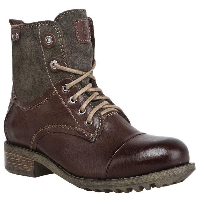 Magasított cipő BUT-S - T642-M17-2P0 Barna Szürke