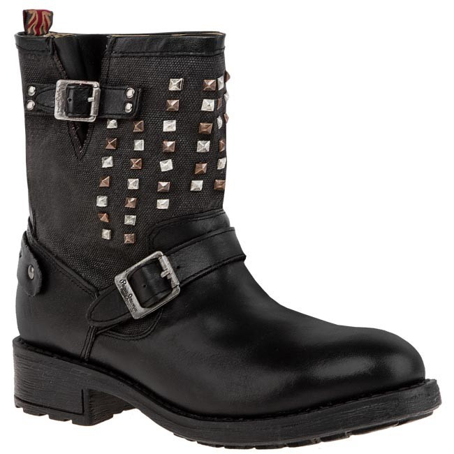 Magasított cipő PEPE JEANS - PFS50324 Black 999