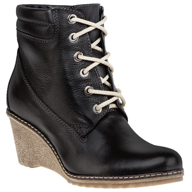 Magasított cipő LAN-KARS - 7212-1-RD Fekete