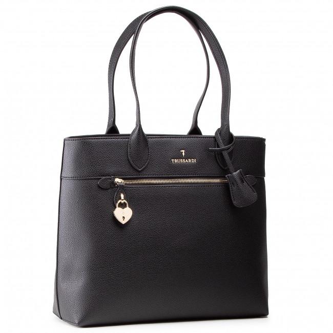 Retikül TRUSSARDI - Shopper Grana Cervo 75B01080 Black K299
