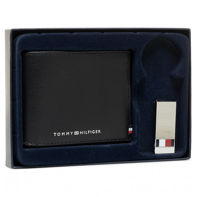 Ajándékszett TOMMY HILFIGER - Business Mini Cc Wallet And Clip AM0AM06723 BDS