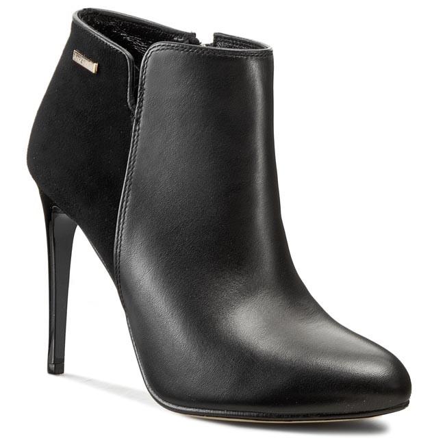 Magasított cipő ANN MEX - 6045 01S+01W Fekete