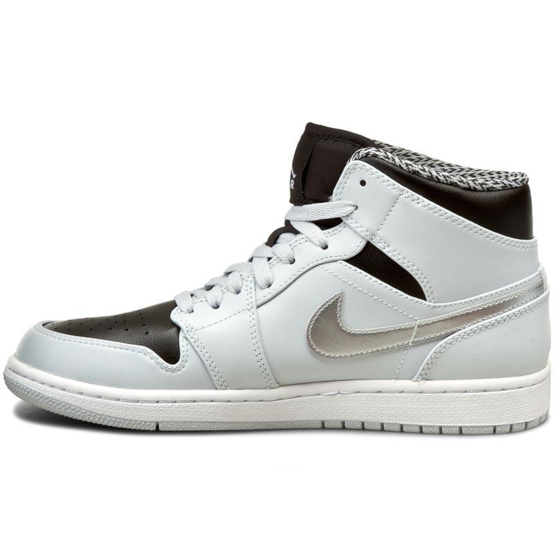 Cipők NIKE - Air Jordan 1 Mid 554724 032 Platine Pur/Argent Metallique